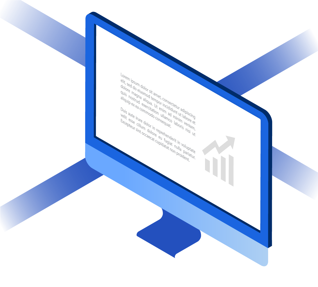 Monitor with news illustration